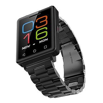 Acero - Negro, Reloj Digital, para hombre de cronómetro impermeable inteligente Relojes, relojes de alarma/reproductor de música Digital: Amazon.es: ...