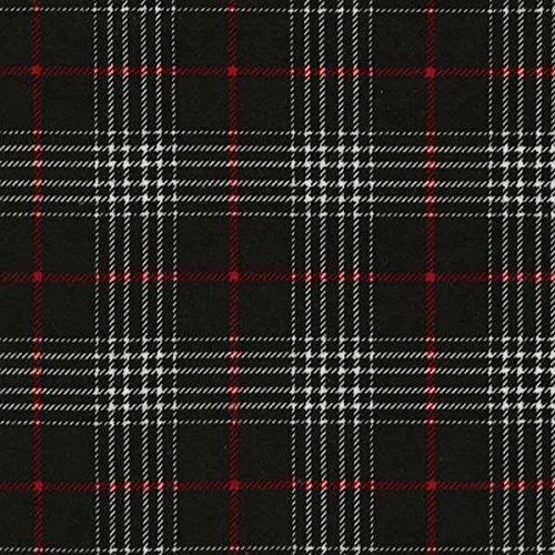 Timeless Treasures Fabrics Tailor Made Cotton Flannel Plaids Black Glen Plaid (Glen Plaid Fabric)