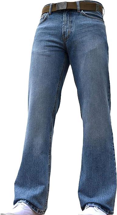Bnwt Pantalones Vaqueros Para Hombre Con Corte De Botas Acampanados Color Azul Amazon Es Ropa Y Accesorios