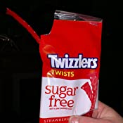 Amazon Com Twizzlers Bulk Sugar Free Strawberry Licorice Candy 2 5 Oz Bag Pack Of 12 Gummy Candy Grocery Gourmet Food