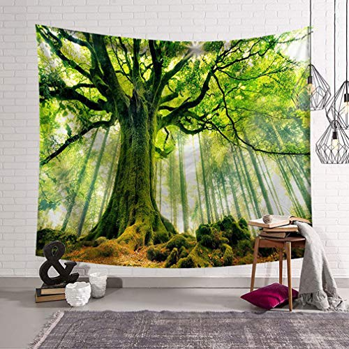 Baisheng Autumn and Winter Beautiful Forest Tapestry, Indian Hippie Mandala Wall Hanging Tapestry For Decorating Bedroom & Living Room & Dorm (Decoration 13-79x59 Inch/203x150 CM)