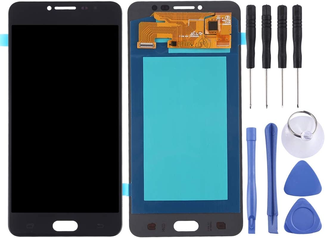 Color : White Premium Quality for Galaxy C7 Pro // C7010 Replacement Part LCD Screen and Digitizer Full Assembly OLED Material Black