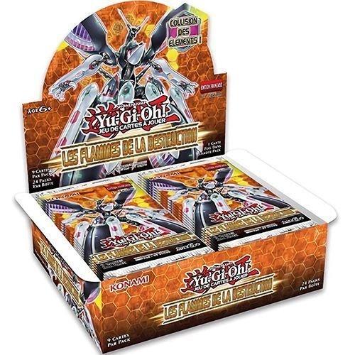 Yu Gi Oh Boite De 24 Boosters Fran/ç ais Les Flammes de la Destruction Gamesland
