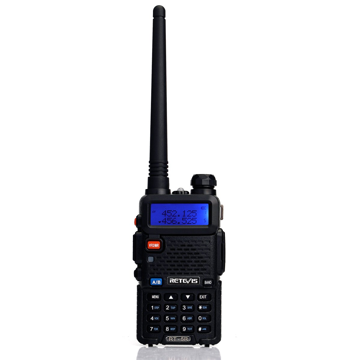 Retevis RT-5R 2 Way Radio 5W 128CH UHF/VHF 400-520MHz/136-174MHZ Walkie Talkies (6 Pack) and Programming Cable by Retevis (Image #7)