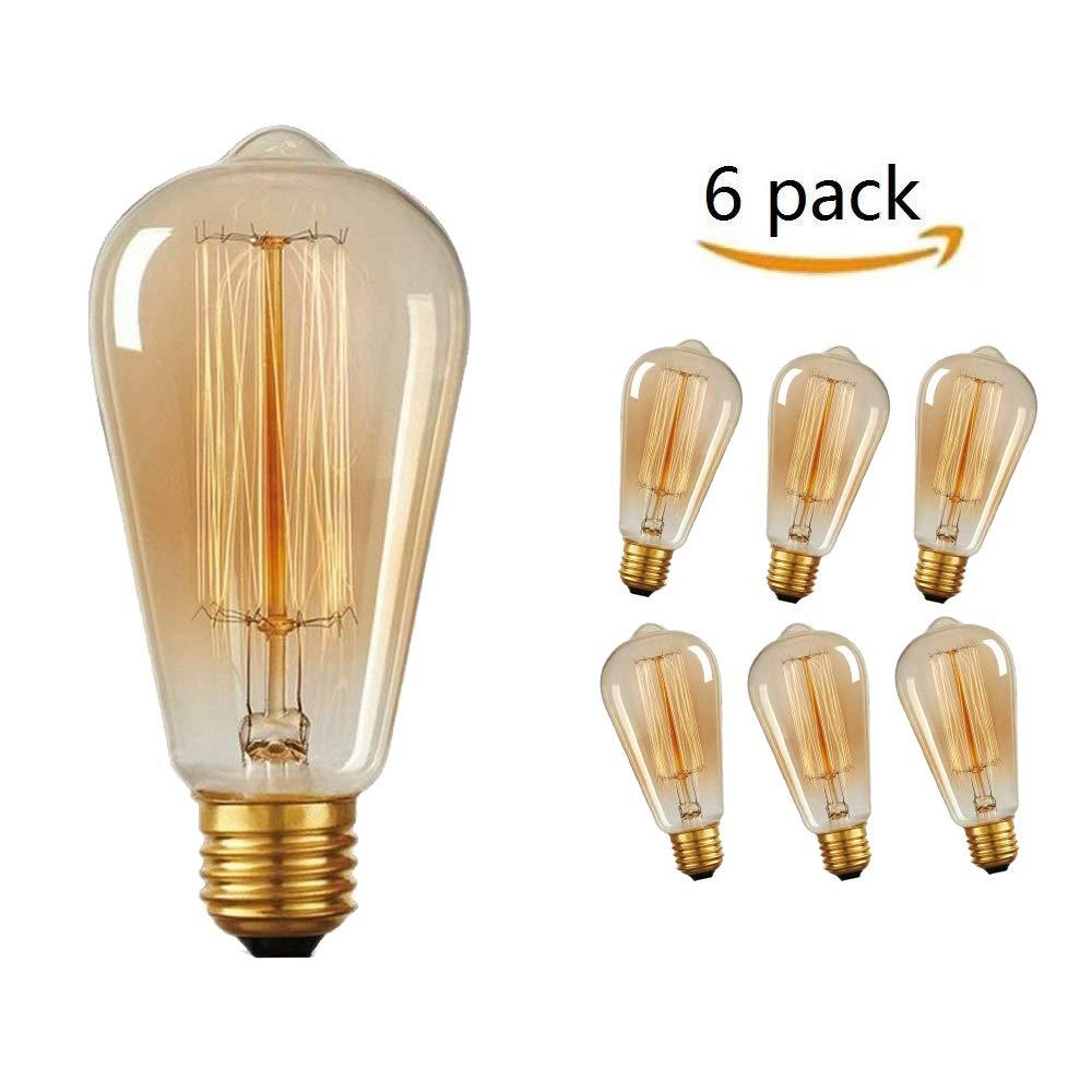 Ampoule Filament Edison Massway 6 Paquets E27 R E Tro Antique Lampe