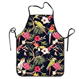 Tropical Tree Adjustable Apron For Grilling Bacon Lady's Men's Great Gift For Wife Ladies Men Boyfriend