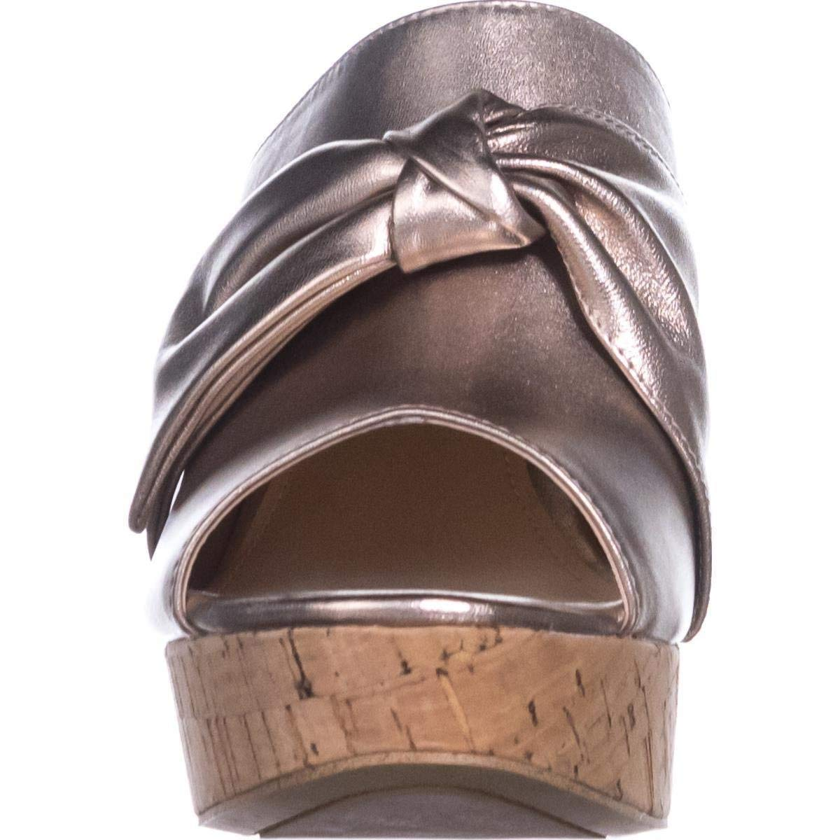 GUESS Womens Hotlove Leather Open Toe Casual Platform Sandals Gold Size 9.0 M US