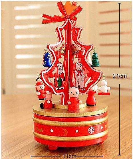 Desconocido Caja Navideña de Madera de Fantasía Caja de Música Caja de Música Árbol de Navidad Creativo Carrusel Caja de Música Decoraciones,Rojo,21 * 11Cm: Amazon.es: Deportes y aire libre