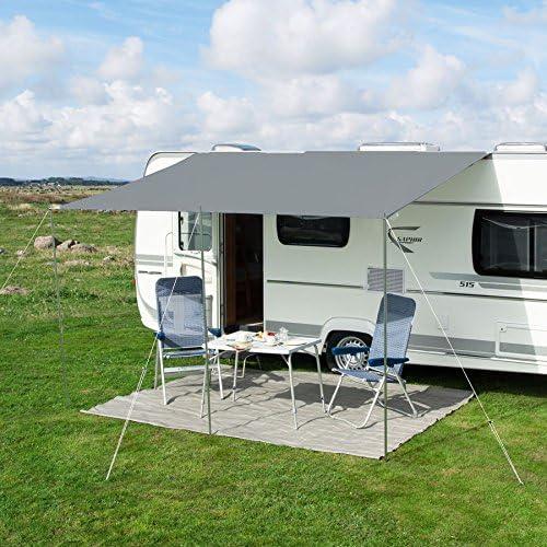 Sonnenvordach Playa 350 X 240 Cm Grau Auto