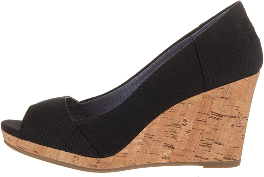 37d170f6931 Womens Stella Open Toe Cork Wedge Sandals