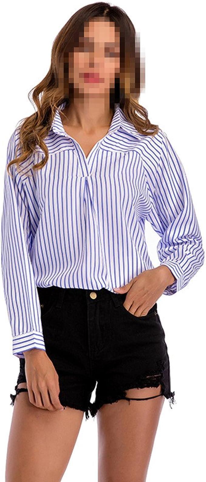 OULII Camisa a Cuadros Sueltos Clásicos de Mujer Camisas con ...