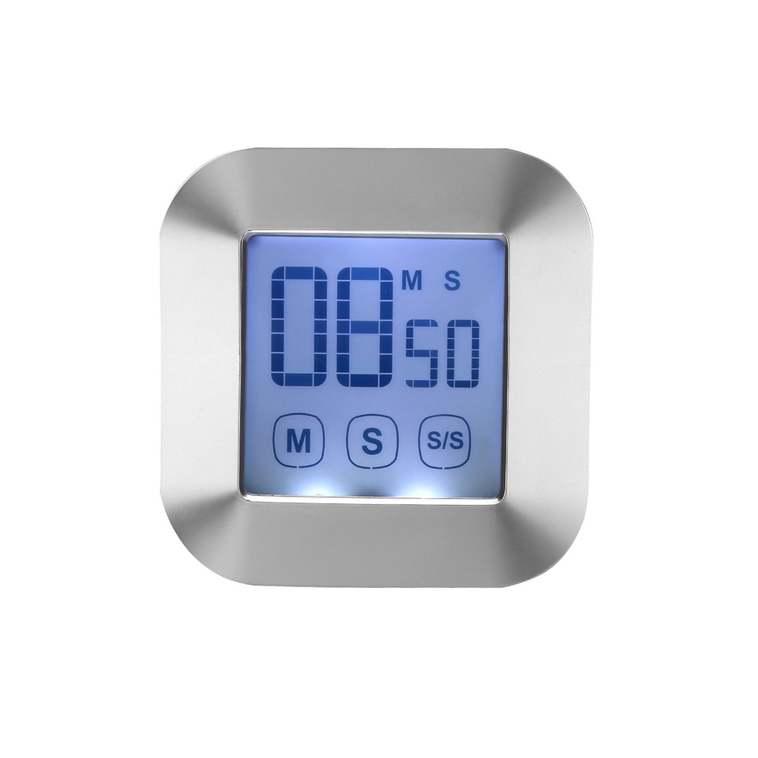 WERCOMIN Digital Kitchen Timer Touchscreen Cooking Timers Clock Backlit LCD Screen Loud Alarm Magnetic Backing Stand for Game, Classroom, Sports, Exercise