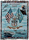 united states navy blanket - Pure Country Navy Chiefs Tapestry Throw Blanket, Red