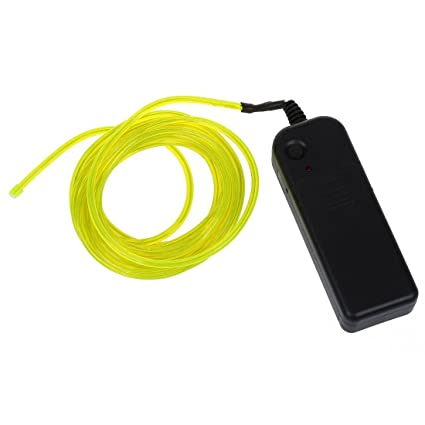 SODIAL(R) 9ft Lime Green Neon Glowing Strobing Electro Luminescent ...