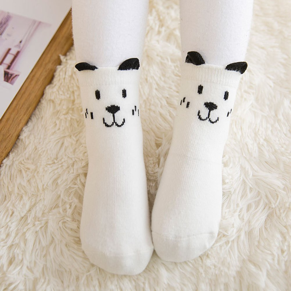 shengyuze Cute Newborn Anti-slip Cartoon Ear Infant Toddler Baby Boy Girl Cotton Socks for Baby Girls Boys Todder