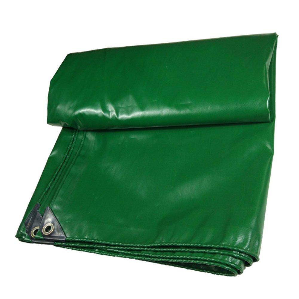 GLJ Wasserdichte Regenschutzsegeltuchdreirad-LKW-Plane PVC-Plane Regendichter Stoff Plane (Farbe : Grün, größe : 6x10m)
