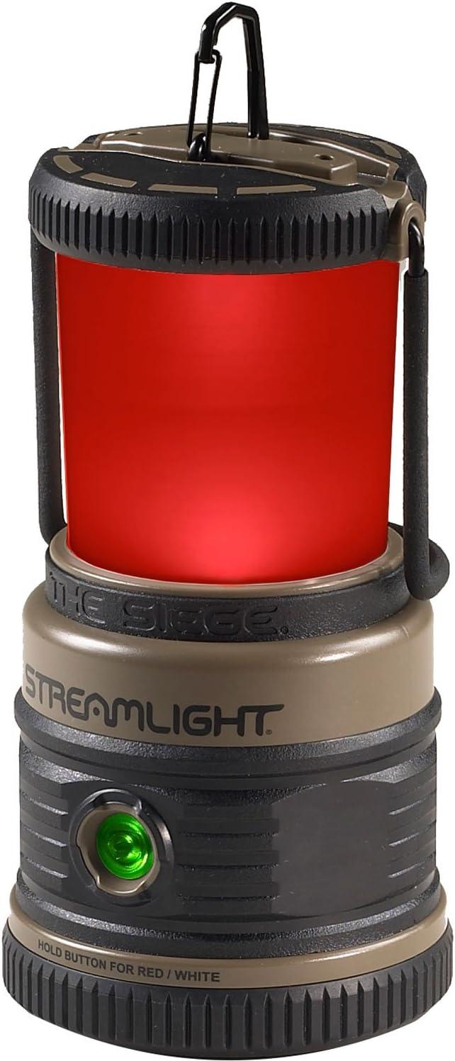 Streamlight 44931 Siege Compact, Cordless, 7.25 Alkaline Hand Lantern – Coyote – 540 Lumens