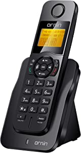 Ornin D1005 Cordless Home Phone, ECO Technology, Rubber Oil Injection(Single Pack, Black)…
