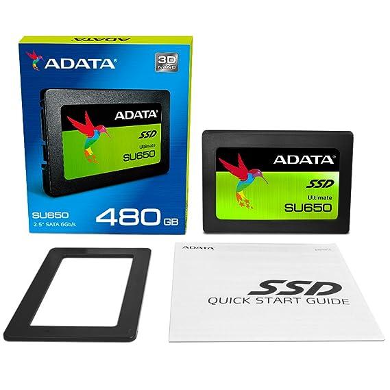 ADATA Ultimate SU650 2 5 Inch 480GB ECC 3D NAND Solid State Drive  (ASU650SS-480GT-C)