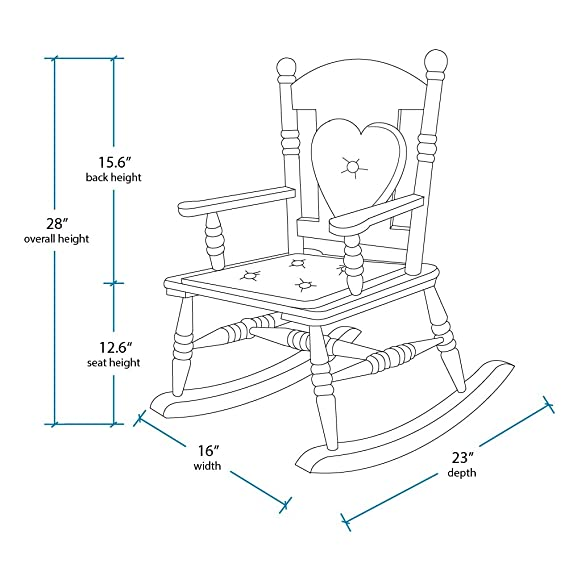 Amazon Com Wildkin Royal Rocking Chair Features Removable Plush