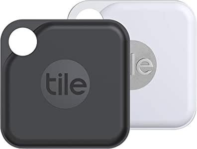 Tile Pro (2020) 2-pack - High Performance Bluetooth Tracker, Keys Finder and Item Locator for Keys, Bags, and More; 400 ft Range, Water Resistance and 1 Year Replaceable Battery