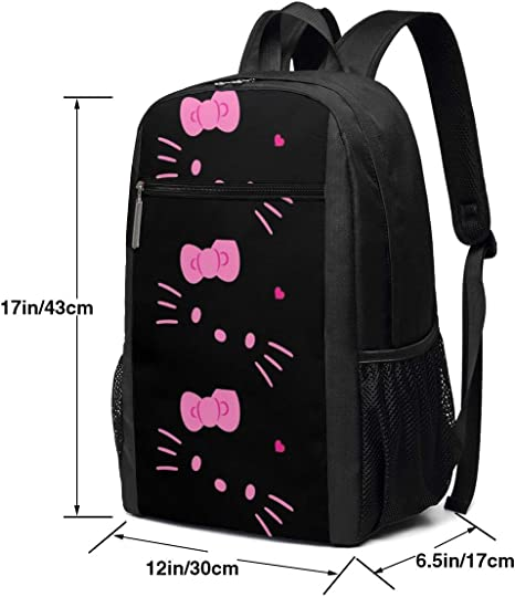 Cute Kitty Green Tea Cake College Laptop Backpack Bag with USB Charging Port Computer Business Backpacks for Women Men School Student Casual Hiking Travel Daypack