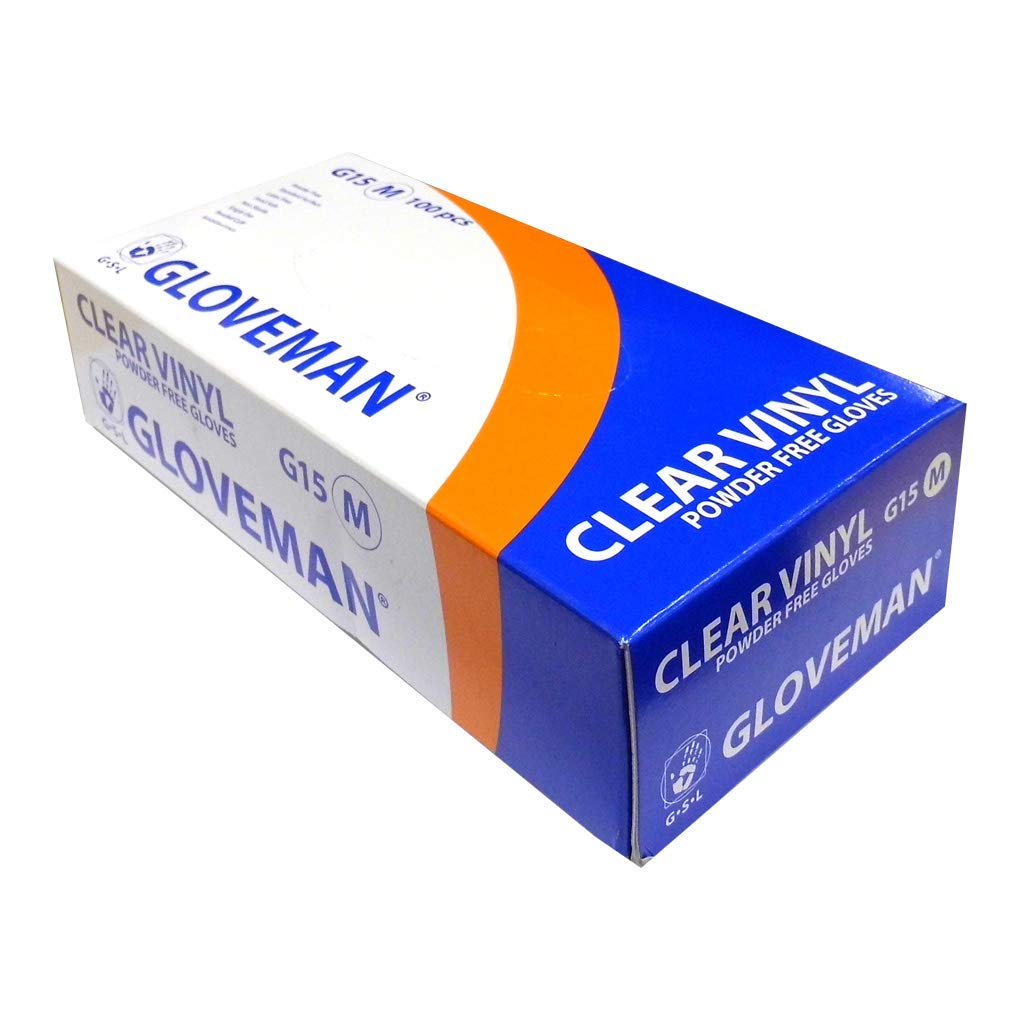 Sizes Extra Small to Extra Large Extra Small 300 Gloves 3 Boxes of Gloveman Clear Vinyl Powder Free Gloves