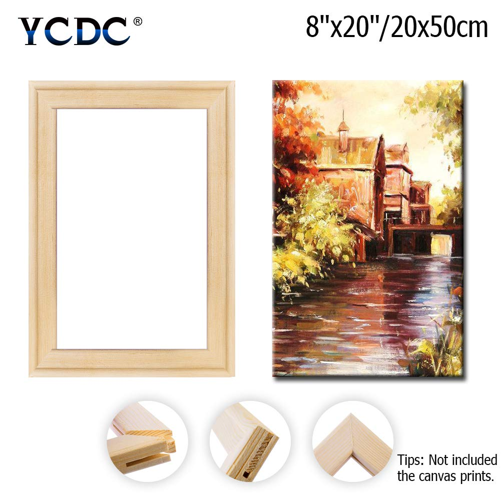 DIY Arts Accessory Materials Supply Solid Canvas Stretcher Frames Premium Pine Wood Strips Bar Set 20x20//50x50cm for Oil Paintings Poster Prints