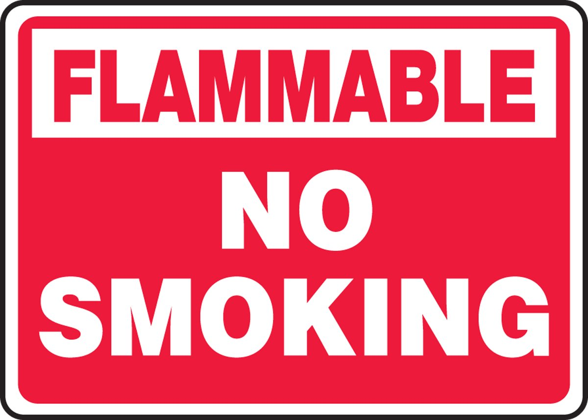 AccuformNo Smoking Safety Sign MSMG529XT 10 x 14 Inches Dura-Plastic