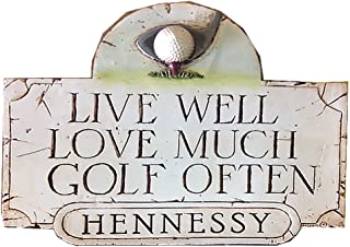 product image for Piazza Pisano Golf Sign with Live Well Love Much Golf Often Personalized Sign