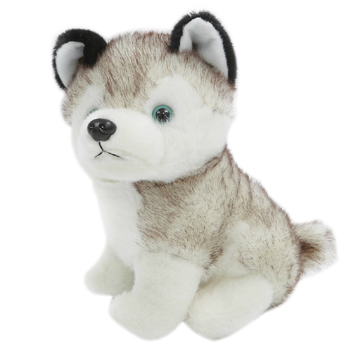 Axixi Cute Baby Kids Soft Stuffed Animal Doll Plush Husky Dog Toy Christmas Birthday Gift (28cm/11inch)
