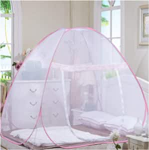 Classic Foldable Mosquito Net For Double Bed, Size (180 * 200 cm) (Blue), Polyester Material
