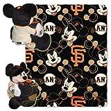 MLB San Francisco Giants Mickey Mouse Pillow with Fleece Throw Blanket Set
