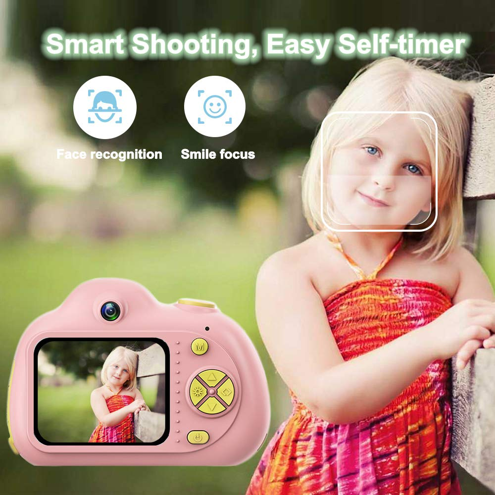 PerfectPromise Kids Toys Camera for Girls Boys,8MP Front and Back Camera 1080P HD Video Recorder Digital Camera for Children Girl Boy Gifts---Pink(32G TF Card Included) by PerfectPromise (Image #7)