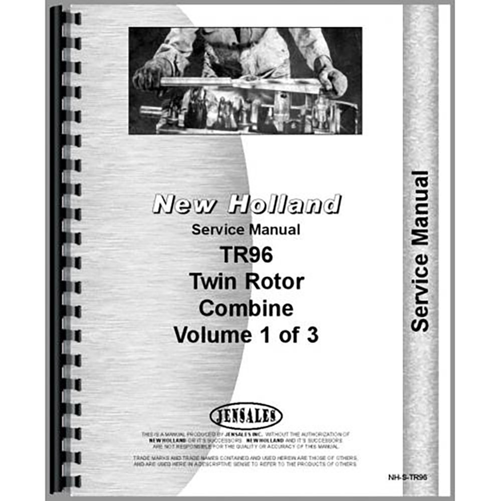 new holland tr96 tr97 tr98 combine service manual new holland rh amazon com New Holland Boomer 35 Tractor New Holland Logo