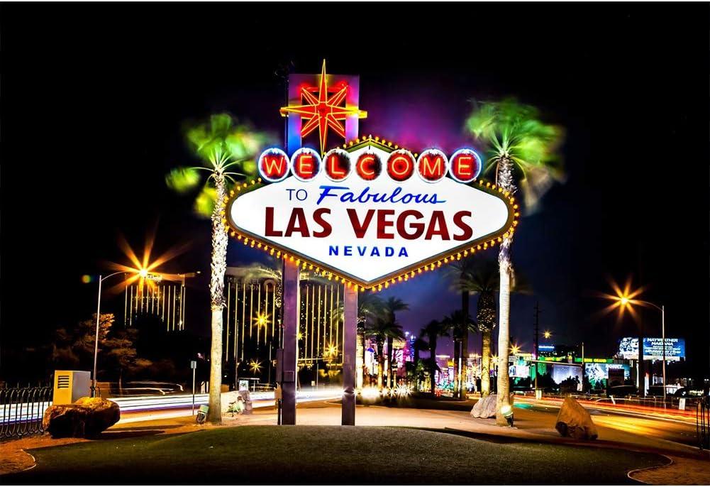 Amazon Com Yeele 10x8ft Las Vegas City Backdrop Casino Gambling Town Night Landscape American Landmark Nevada Photography Background Kids Adults Artistic Portrait Photo Studio Vinly Wallpaper Camera Photo