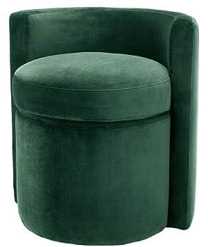 Casa-Padrino Sillón de Diseño Verde Oscuro 61 x 57 x H. 64 ...