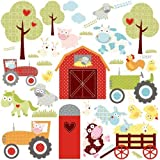 RoomMates RMK1604SCS Happi Barnyard Peel and Stick Wall Decals by York Wallcoverings
