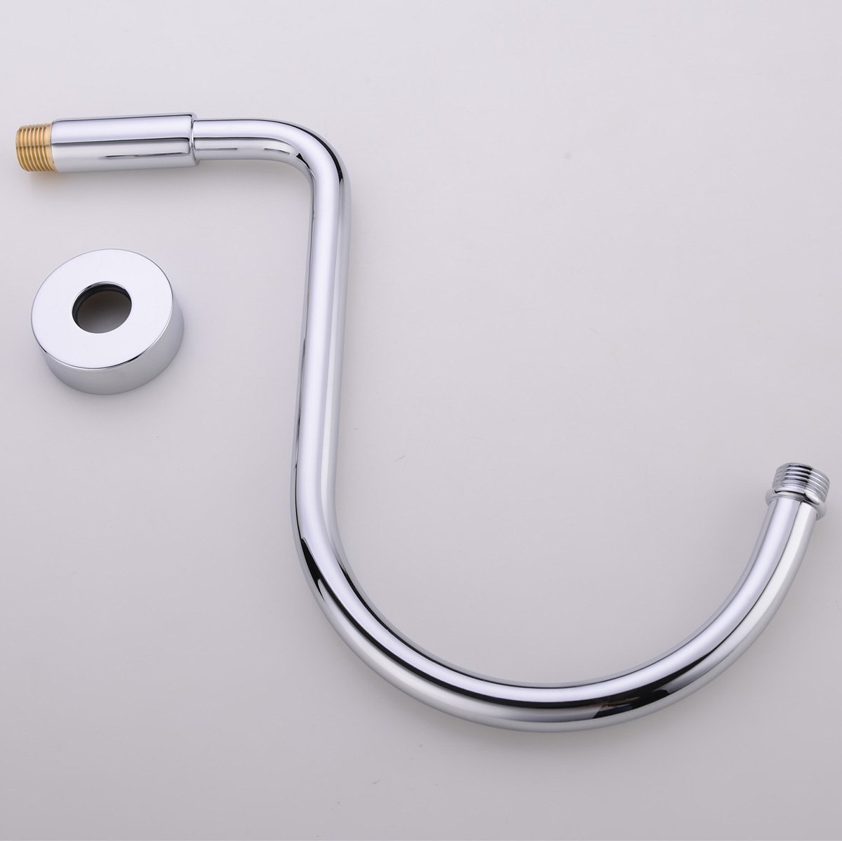 HANEBATH Brass GOOSENECK Extension Shower Arm with Flange, Chrome ...