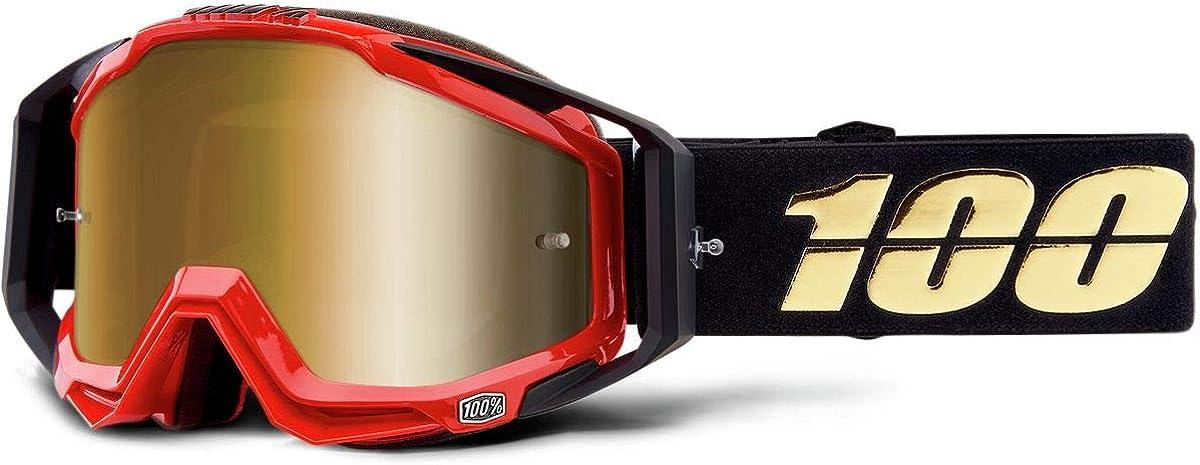 100/% Mens Racecraft Mirror Blue Lens Goggles