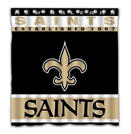 Image Unavailable Not Available For Color Potteroy New Orleans Saints Team Design Shower Curtain