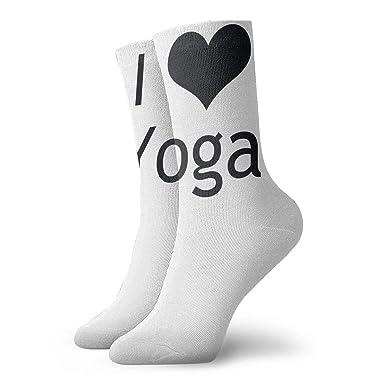 Drempad Luxury Calcetines de Deporte I Love Yoga Women & Men ...