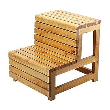 LAXF Tritt Hocker Massivholz Kinder 2 Schritt Hocker Für Badezimmer  Schlafzimmer Küche Wohnzimmer Möbel