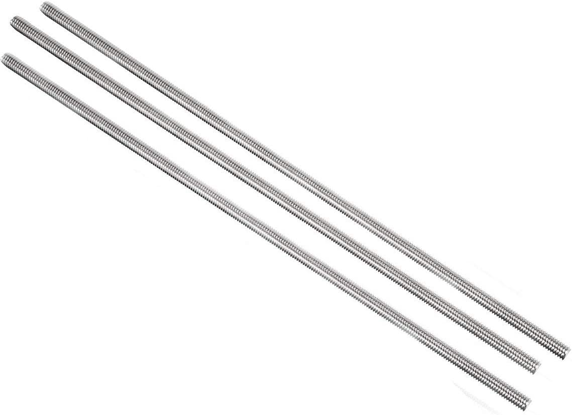Mecion M10 x 55mm Stainless Steel Fully Threaded Rod Right Hand Threads 10Pcs