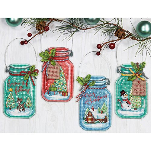 Dimensions Needlecrafts Christmas Ornament Set, Counted Cross Stitch Kit -
