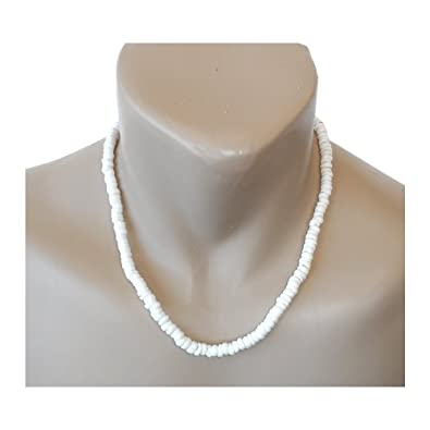 Amazon hawaiian jewelry small puka shells 20 necklace with koa hawaiian jewelry small puka shells 20quot necklace with koa wood accents aloadofball Image collections