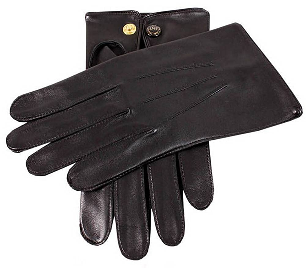 Dents Mens Sandhurst Leather Gloves Black
