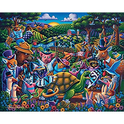 Dowdle Jigsaw Puzzle - Tortoise and The Hare - 100 Piece: Toys & Games