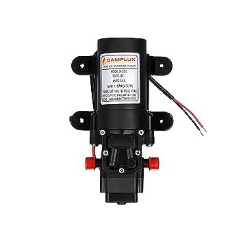 Camplux - Bomba de Agua de 12 V 4,3 L, 35 PSI,