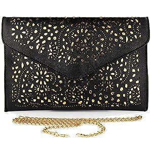 imentha Sacchetto di Crossbody del messaggero del Tote della spalla borsa signora Satchel delle nuove donne di modo Clutch Donna Pochette Donna (nero)